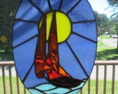 Stained Glass Sailboat in the sun