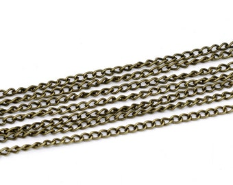 BULK - Antique Brass Chain - 32 feet - #CH10832