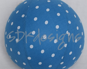 Balloon Ball - Blue polka dots fabric -  Great Stocking stuffer or party decor as seen with Michelle Obama on parenting.com