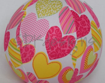Balloon Ball - Pink and Yellow Hearts - Great kids gift as seen with Michelle Obama on Parenting.com