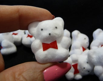White Bears, Small, Craft Supplies, Small White Bears, Ten Small Bears, Destash, Unique Supplies, Bear Decorations, Miniature Bears,Recycled