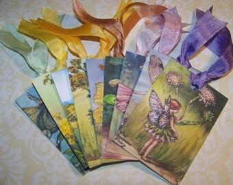 Fairy Tags Vintage Style Set of 9
