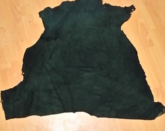 Green Commerically Tanned Deer Hides, Splits, Craft Leather