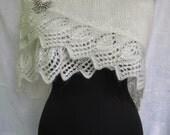 wedding  shawl and Brooch