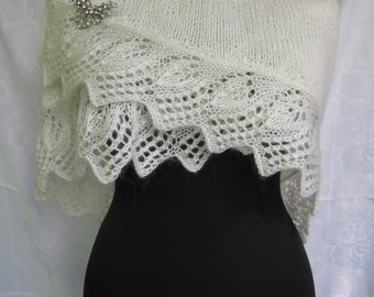 wedding  shawl and Brooch