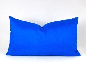 COBALT Dupioni Silk Pillow Cover - Cobalt Pillow Cover, Cobalt Toss Pillow Cover, Blue Silk Cover, Royal Blue Silk Pillow Cover