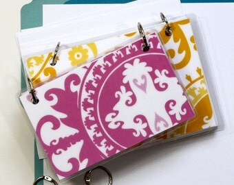 4 x 6 Index Card or Note Card Binder, Suzani Set, Pink Yellow
