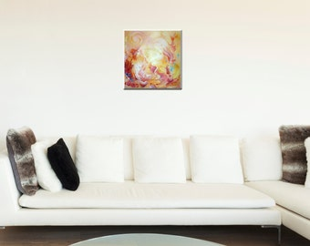 Golden Eden - a golden paradise for you - original acrylic painting