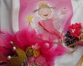 Reserved kdolpn Custom Posh Pink Pinkalicious Tutu  Outfit Gold Crown Headband~Birthday Pageants Tea Party