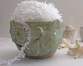 Sea Turtle Yarn Bowl - Knitting Bowl Beach Handmade Pottery Yarn Holder