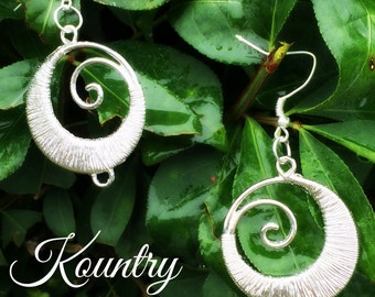 Silver Wire Wrapped Earrings,  Earrings, Stylish Earrings (Ready to Ship)