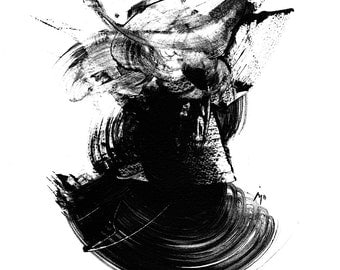 Black and white abstract - Giclee print - multiple sizes. Limited to 200 printings.