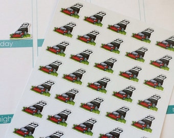 Planner Stickers 35 Lawn Mowers Stickers Day Planner Stickers Plum Paper Stickers