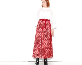 incredible 1960s CROCHET LACE SKIRT maxi skirt lace skirt sheer lace holiday christmas new years cocktail party plus size extra large xl