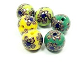 NOW ON SALE Flower Pairs - Handmade Polymer Clay Beads