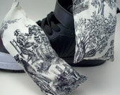 Skeleton Stinky Sneaker Sachets - Odor Eaters - Black and White Toile For Goth Athletes - Natural Essential Oil Shoe and Boot Deodorizer