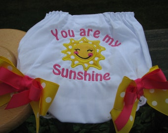 you are my sunshine birthday Bloomers, 1st birthday, smash cake bloomers, diaper cover,