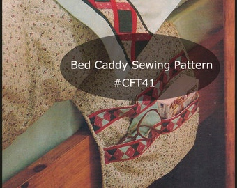 Bed Caddy Book Holder Bed Caddy Sewing Pattern PDF Instant Download Mailed Copy Available Inquire--DurhamDeals