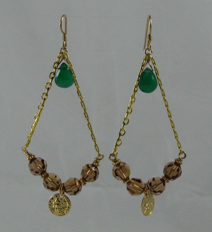 bohemian chandelier earrings unique by beadtifuldesigns on etsy