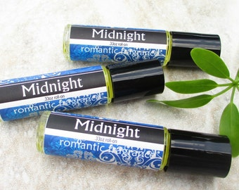 Midnight Roll on Scent, fresh herbal fragrance, blended with amber, citrus, floral and musk