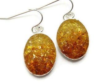 Mosaic Jewelry - Amber Ombre Earrings