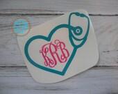 Nurse Stethoscope Initials Monogram Car Decal Vinyl Decal Monogram Car sticker Car Initials Vinyl Initials Vinyl Lettering