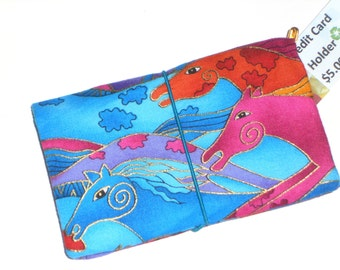 Wild Horses in Blue Business Cards / Loyalty Cards / Credit Cards / Pocket Wallet / Gift Card Holder