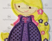 Character Dolls - Mermaid, Rapunzel, Cindy, Snowy White, Fairy and More - Iron On or Sew On Embroidered Appliques