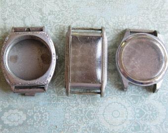 Vintage  Watch parts - watch Cases -  Steampunk - Scrapbooking  n29