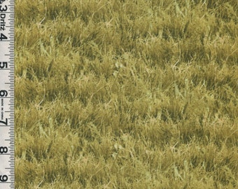 Fabric Elizabeth Landscape Medley Grasses yellow green color meadow field art quilts