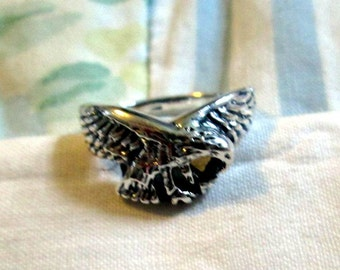 RING -EAGLE - Sterling Silver - 925 - Vintage - Size 8 misc315
