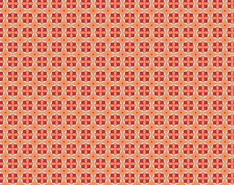 SPRING SALE - Modern Minis - 1 yard - Circles - SKU C4764 Orange - by Lori Holt for Riley Blake Designs
