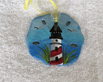 lighthouse sand dollar ornament