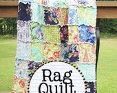 Rag Quilt Kit, makes a small BABY quilt, love in soul fabrics