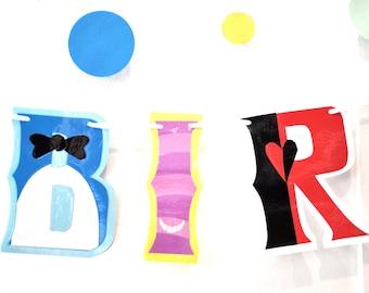 Alice in Wonderland BIRTHDAY Banner, Alice in Wonderland Party Banner, Alice in Wonderland HAPPY BIRTHDAY Banner, Cheshire Cat Birthday