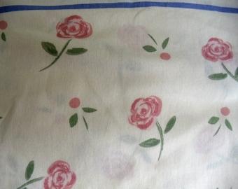 Vintage Pink Rose Twin Sheet Set