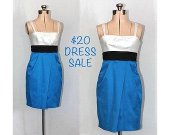 SALE! Vintage 90s She Bop Blue Dress