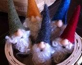 Mini needle felted gnome