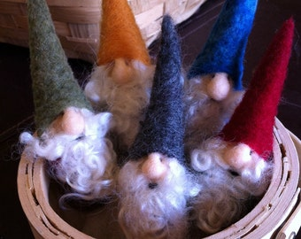Mini needle felted gnome