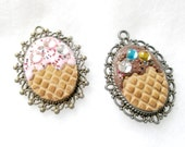 YOUR CHOICE of Flavor Ice Cream Pendant Necklace