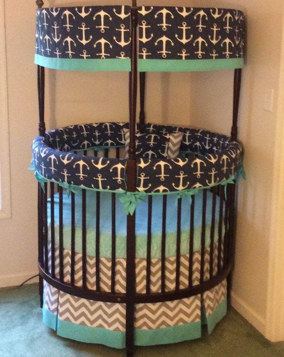 Anchor Round Crib Bedding Made To Order Deposit