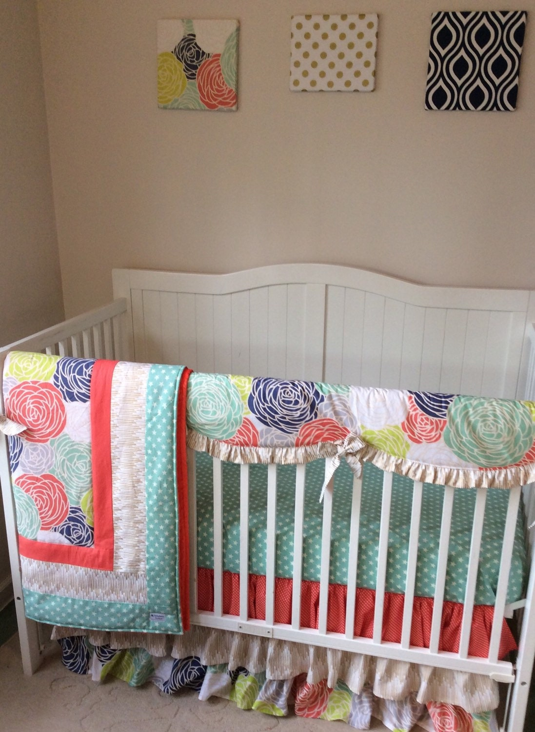 Coral And Mint Bedding July Sale Crib Bedding Set Coral Mint And By