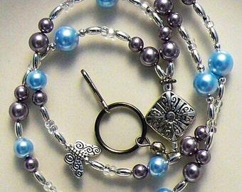 Beaded Lanyard, Badge Holder, Swarvoski Pearls Id Holder