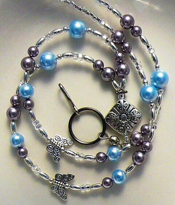 Beaded Lanyard, Badge Holder, Swarvoski Pearls Id Holder