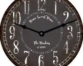 Rustic Personalized 18 inch Clock Custom Wedding Bridal Baby Shower Gift Decor Christmas Gift Fall decor Autumn decor