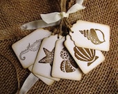 Sea Shell Beach Tags ~ Guest Book Alternative