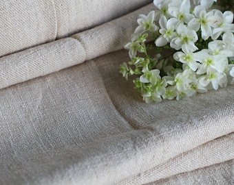 C 384 antique handloomed PALE CREAMY chunky 14.20 yards 20.87 wide perfect for upholstering