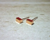 Mini Bar Stud Earrings, Dainty Earrings