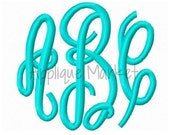 Machine Embroidery Design Embroidery Grand Monogram Small Sizes INSTANT DOWNLOAD