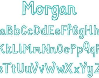 Machine Embroidery Design Applique Morgan Applique Alphabet INSTANT DOWNLOAD